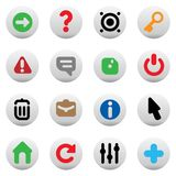 Buttons for interface Stock Photo