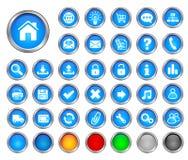buttons internet Royaltyfri Fotografi