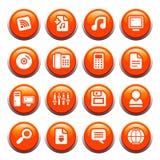 buttons internet Arkivbild