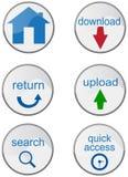 buttons internet olika vektor illustrationer