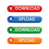 buttons internetvektorn Arkivbild