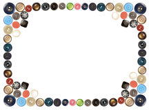 Buttons Isolated On White Frame Collage Royalty Free Stock Image