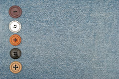Buttons on jeans Stock Image