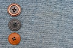 Buttons on jeans Stock Photos
