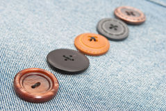 Buttons on jeans Royalty Free Stock Photo
