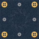 BUTTONS ON JEANS Royalty Free Stock Photography