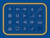 buttons jeansrengöringsduk Royaltyfri Illustrationer