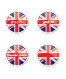 buttons jubilee royaltyfri illustrationer