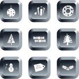buttons jul vektor illustrationer