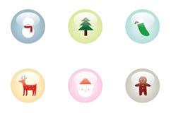 buttons jul glansig Arkivbild