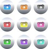 buttons kameran royaltyfri illustrationer