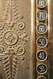 buttons kassaapparaten Arkivbild