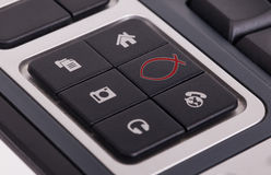 Buttons on a keyboard - Christian Stock Image