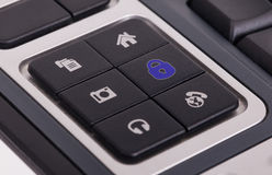 Buttons on a keyboard - Lock Stock Photo