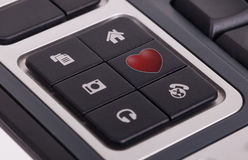 Buttons on a keyboard - Love Royalty Free Stock Image