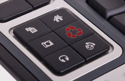 Buttons on a keyboard - Recycle Stock Images