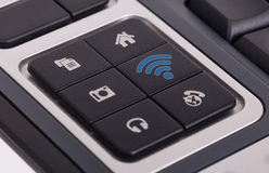 Buttons on a keyboard - WiFi Royalty Free Stock Images