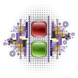 buttons klarteckenredsignaleringen Royaltyfria Foton