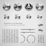 Buttons and knobs Royalty Free Stock Images