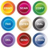 buttons kommunikation Arkivbilder
