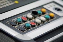 buttons kontrollbordet Arkivfoto