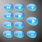 buttons kontrollbordet royaltyfri illustrationer