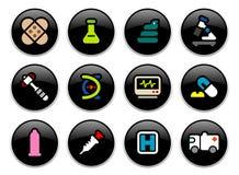 buttons läkarundersökning Arkivbild