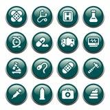 buttons läkarundersökning Arkivfoto