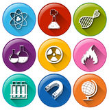 Buttons with laboratory materials Royalty Free Stock Photography