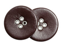 Buttons leather on a white background Royalty Free Stock Image