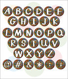 Buttons with letters of the alphabet Royalty Free Stock Image