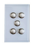 5 buttons for light switch Royalty Free Stock Image