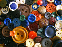 Buttons, a lot of. Different buttons various colors and sizes royalty free stock photography