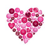 Buttons of love Stock Image