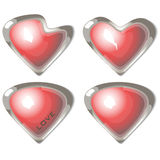 Buttons of love Royalty Free Stock Photo