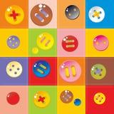 buttons mångfärgat Royaltyfri Bild