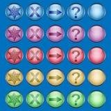 buttons mångfärgat blankt Arkivfoto