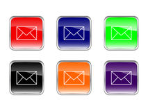 Buttons mail Royalty Free Stock Images