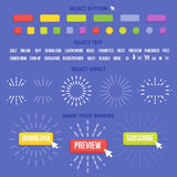 Buttons maker constructor. Create your banner for web, presentation, game Stock Photography