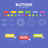 Buttons maker constructor. Create your banner for web, presentation, game Stock Photo