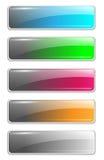 buttons mallwebsite Royaltyfri Fotografi