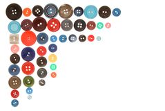 Buttons. Many-colored buttons have corner shape vector illustration