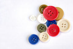 Buttons of many colors Stock Image