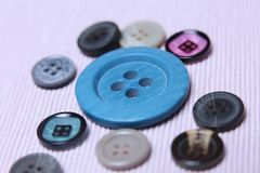 Buttons, many colors Stock Photo