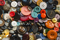 Buttons. Many buttons of different colors and shapes Stock Photos