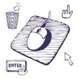 buttons markörmusblocket Vektor Illustrationer