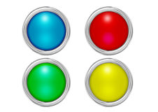 Buttons mat colors Stock Image