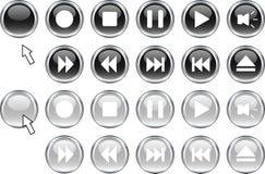 buttons medel Arkivfoton