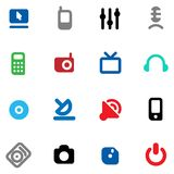 Buttons for media devices Stock Images