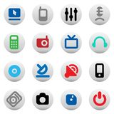 Buttons for media devices Royalty Free Stock Photography